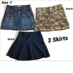 Girl's 3 Skirt Bundle